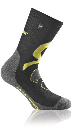 Rohner Hiking Sokken Dames geel/zwart
